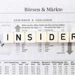 Insiderhandel Aktien