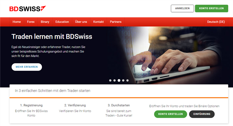 BDSwiss Trading Plattform