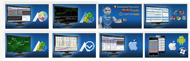 Bei AvaTrade können Kunden aus mehreren Handelsplattformen auswählen