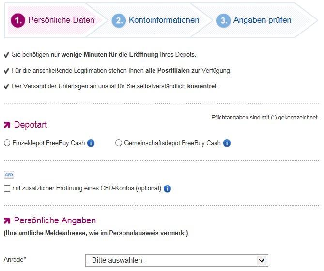 Die OnVista Bank Online-Anmeldung