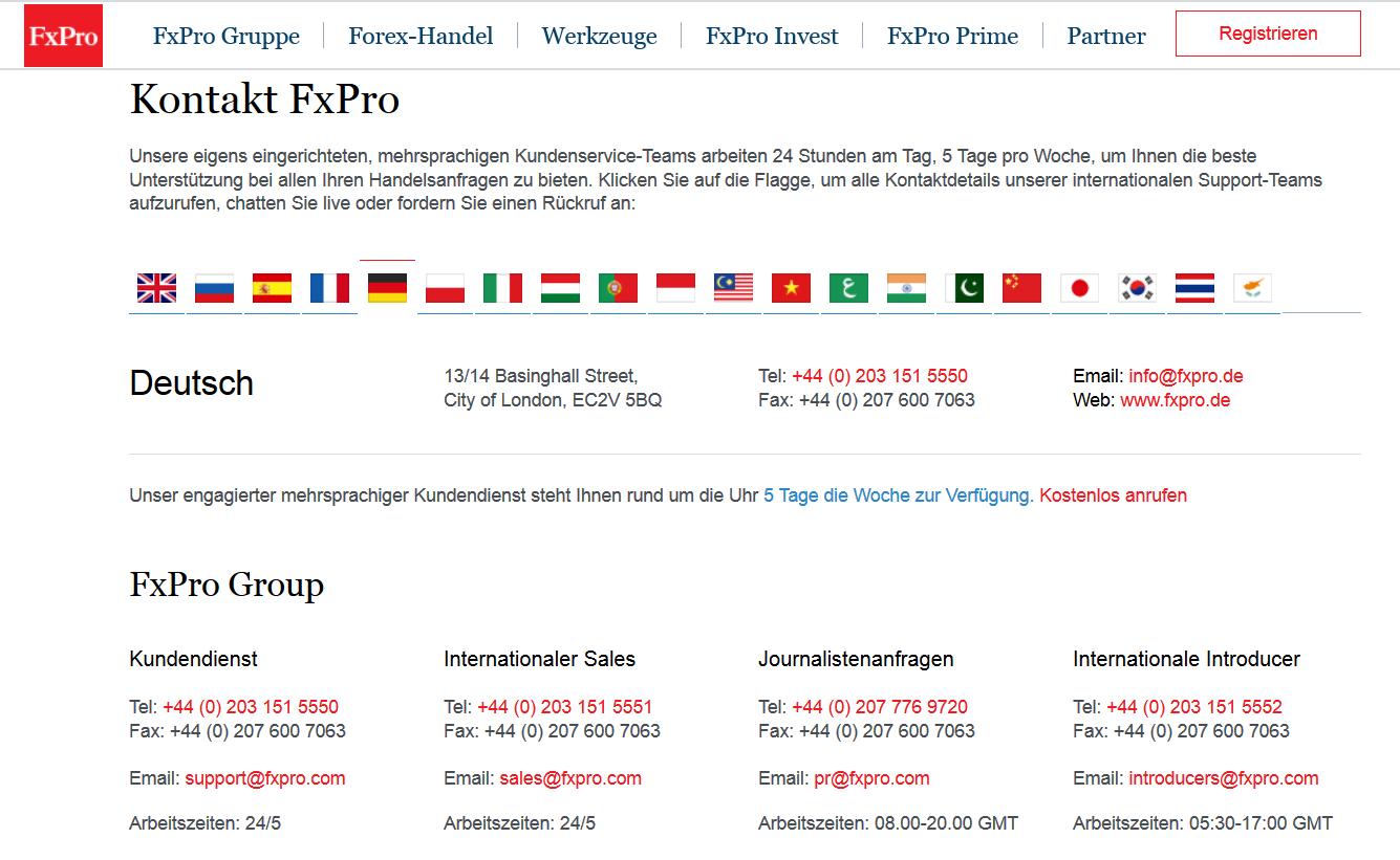 Der deutschsprachige Kundensupport ist gut erreichbar