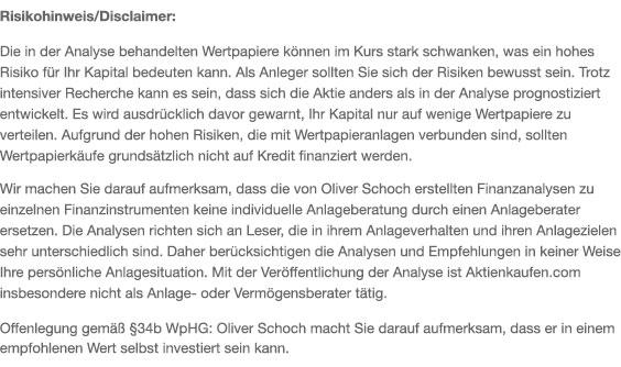 Risikohinweis Oliver Schoch