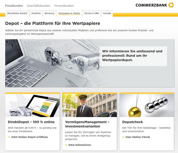 Commerzbank Wertpapierdepot