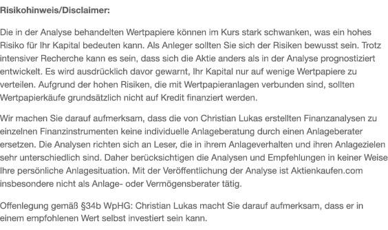 Risikohinweis Christian Lukas