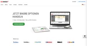 Die Webseite des Brokers BDSwiss