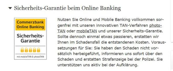 Das Online-Banking mit Sicherheits-Garantie