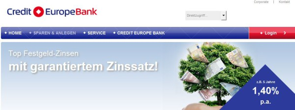 Das Credit Europe Bank Angebot