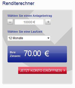 Zinsen berechnen bei der Credit Europe Bank