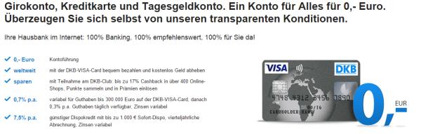 DKB Cash Konto: Tagesgeld und mehr.