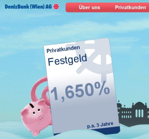 Beste Zinsen bei der DenizBank?