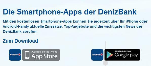 Es gibt hervorragende DenizBank Apps!