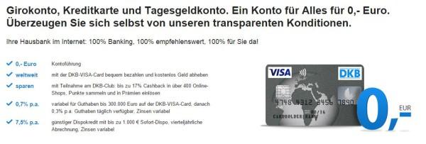 Spitzenverzinsung von Tagesgeld, DKB.
