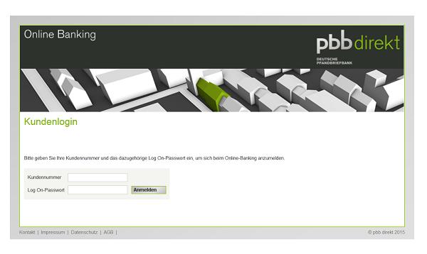 Der Online-Banking-Zugang der pbbdirekt