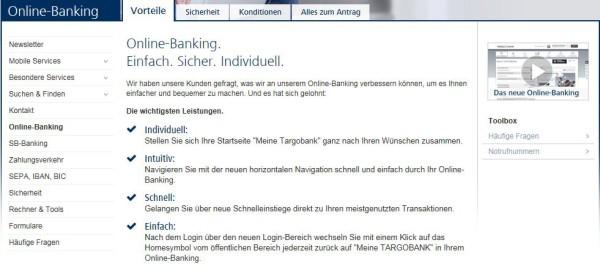 Alle Vorteile des TARGOBANK Online-Bankings