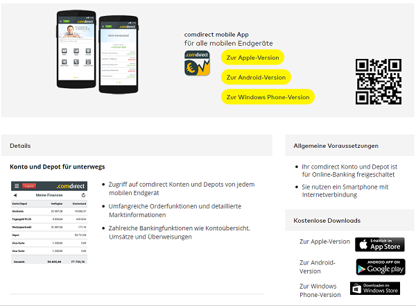 comdirect mobile app