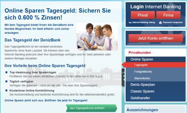 DenizBank Tagesgeld im Überblick