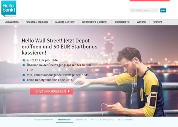 Hellobank Produkte im Überblick