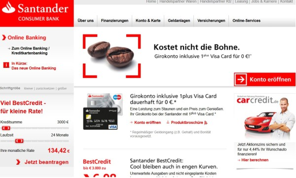 santander consumer bank tagesgeld erfahrungen 2018 zum test. Black Bedroom Furniture Sets. Home Design Ideas
