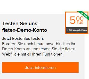 Hier klicken und flatex Demokonto testen