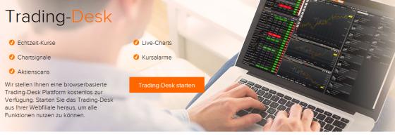 kostenlose Trading Desk von flatex