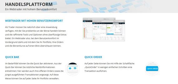 Die webbasierte Trading Plattform von DeGiro