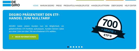 Kostenloser ETF Handel bei DeGiro möglich