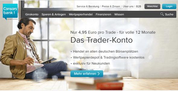 Consorsbank Konto eröffnen