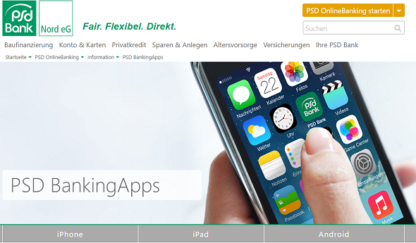 PSD Bank Nord Banking-App
