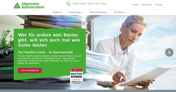 ABK Bank Internetauftritt