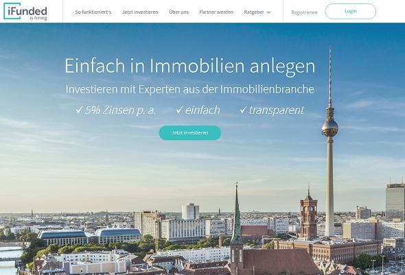 iFunded Homepage