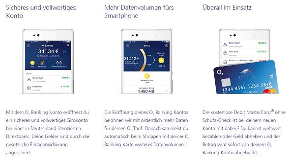 o2 Banking Girokonto Vorteile