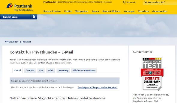 Postbank Kundenservice