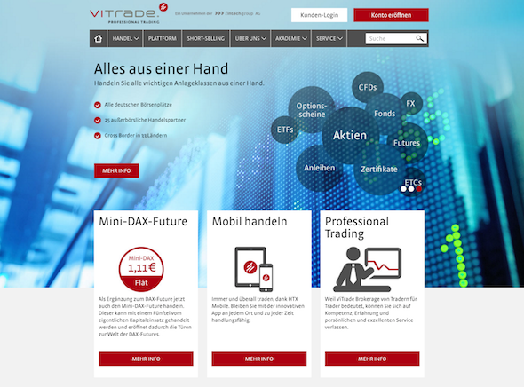 ViTrade Webseite