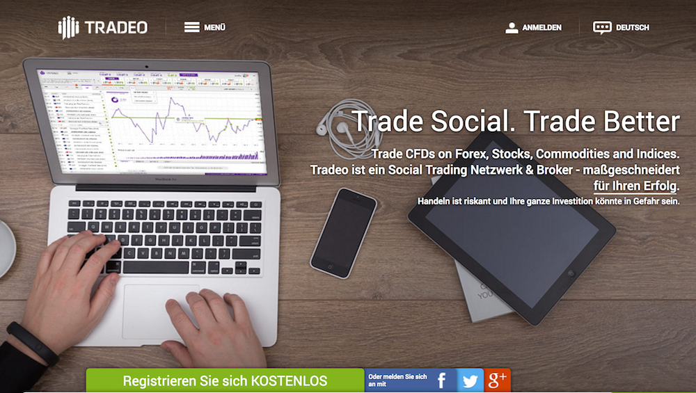 Tradeo Homepage
