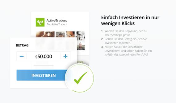 eToro Online-Geldanlage