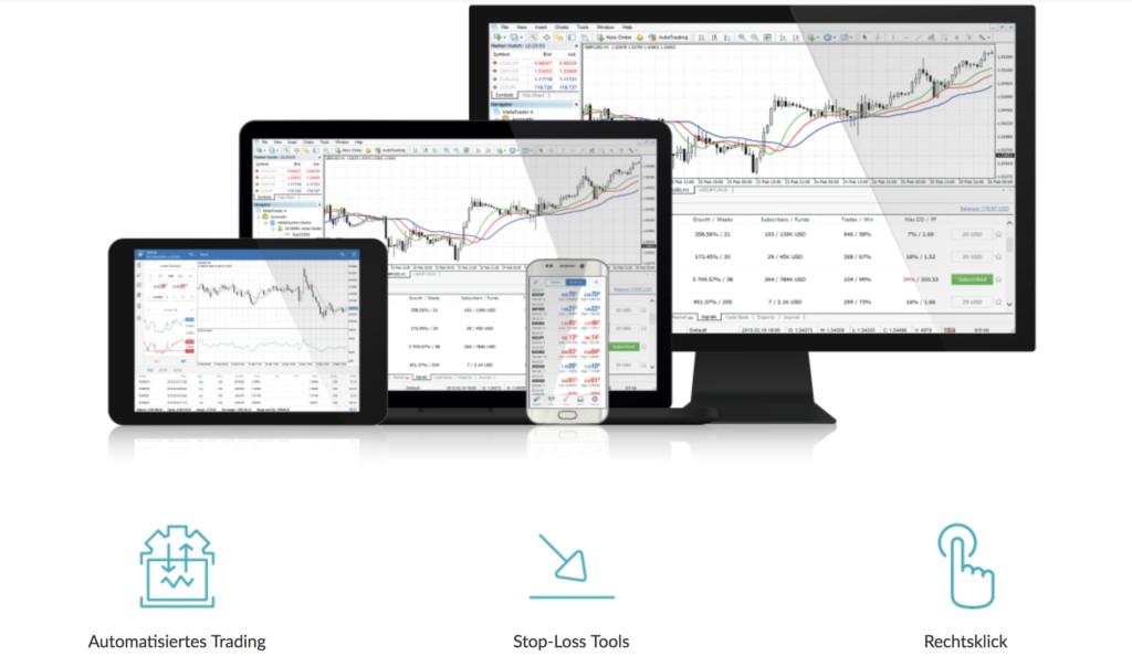 Das Trading bei LCG ist unter anderem über den MetaTrader 4 möglich