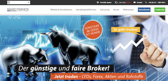 Smart Markets Webseite