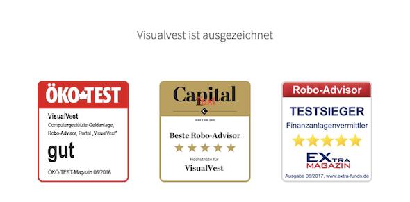 VisualVest Auszeichnungen