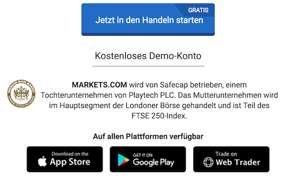Markets.com Plattformen