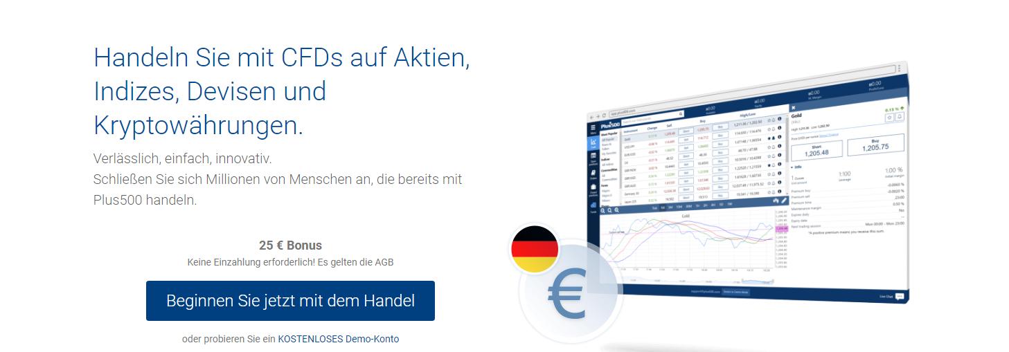 plus500 25 Euro No Deposit Bonus