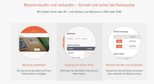 Swissquote Bitcoins handeln