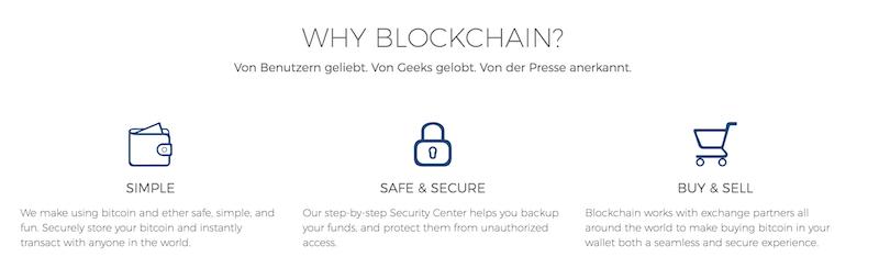 Blockchain.info Vorteile