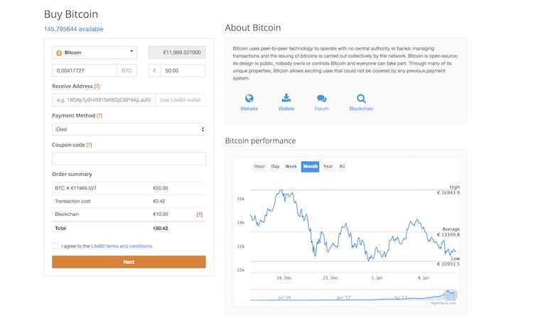 LiteBit.eu Kryptowährungen kaufen und verkaufen