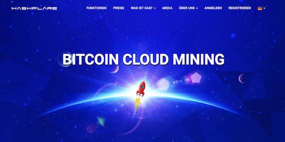HashFlare Webseite