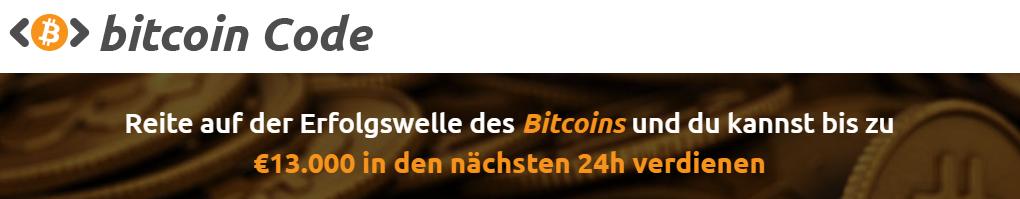 Bitcoin Code Webseite, Bitcoin Code seriös