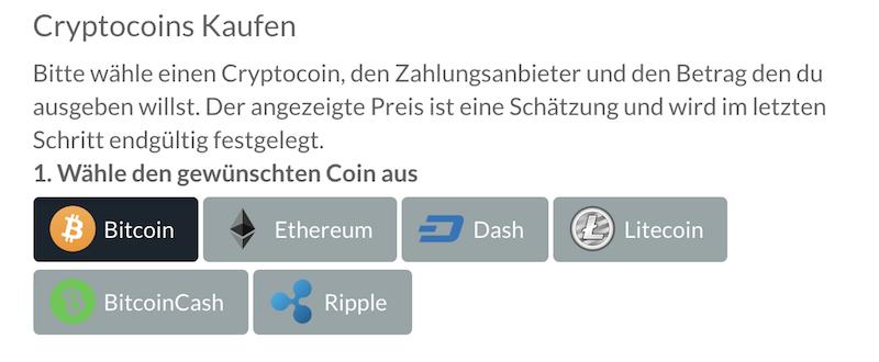 BitPanda handelbaren Kryptowährungen