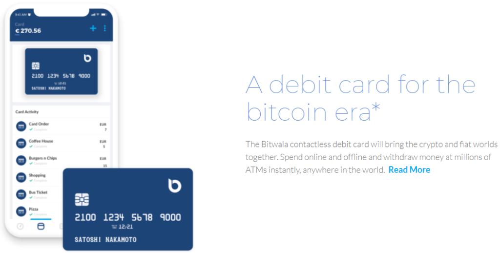 Die Bitwala Kreditkarte