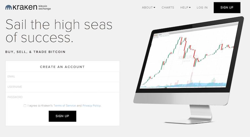 Kraken Webseite