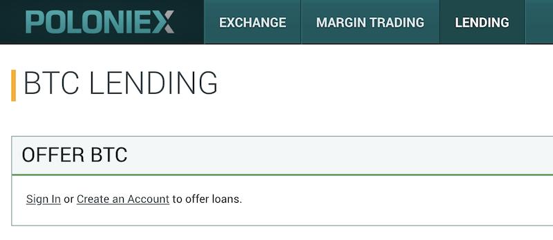 Poloniex Krypto Lending