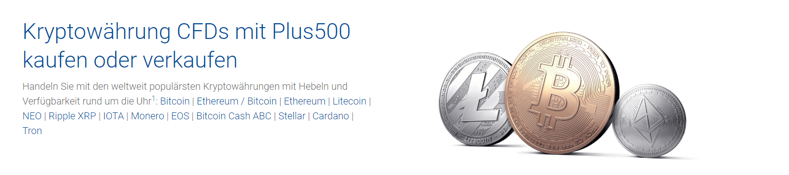 Jetzt Kryptowährungen handeln bei Plus500